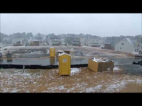 porta-potty-review-new-home-construction-in-the-snow-with-graffiti!---raleigh,-nc---jan-18,-2018