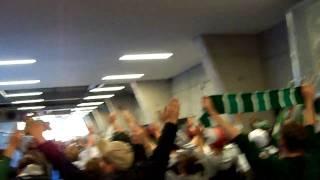 VFB Stuttgart - SV Werder Bremen -- Oh SV Werder Bremen Feier nach dem Auswärtssieg