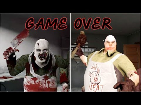 Psychopath Hunt vs Mr. Meat | Game Over Scenes