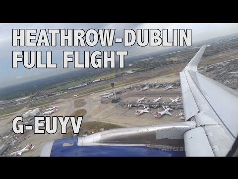 British Airways BA834  Heathrow (LHR) - Dublin (DUB) Airbus A320-232 - G-EUYV Full Flight