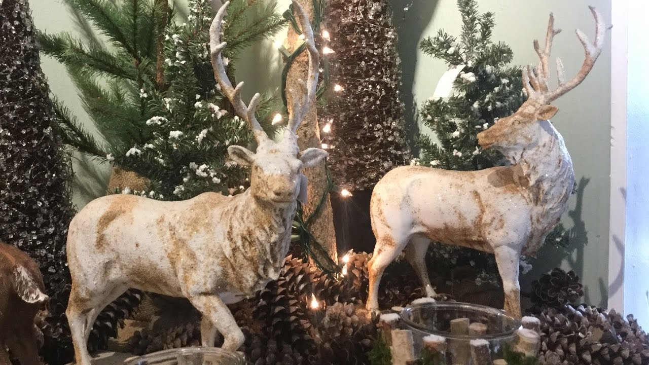rebecca robeson inspired christmas decor inspiration 2018 reindeer and magnolia youtube