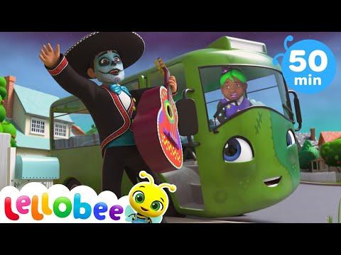 Halloween Wheels On The Bus | Kids Songs \u0026 Nursery Rhymes | ABC \u0026 123 | Little Baby Bum