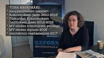 Tiina Keskimäki valottaa: Janitskinin jahti & Kokoomuksen rikokset