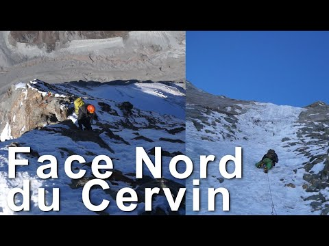 #2 Face Nord du Cervin Cervino Matterhorn voie Franz et Toni Schmid alpinisme montagne - 10639