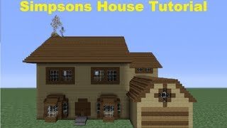 Minecraft 360: How to Build The Simpsons House (House number 4)