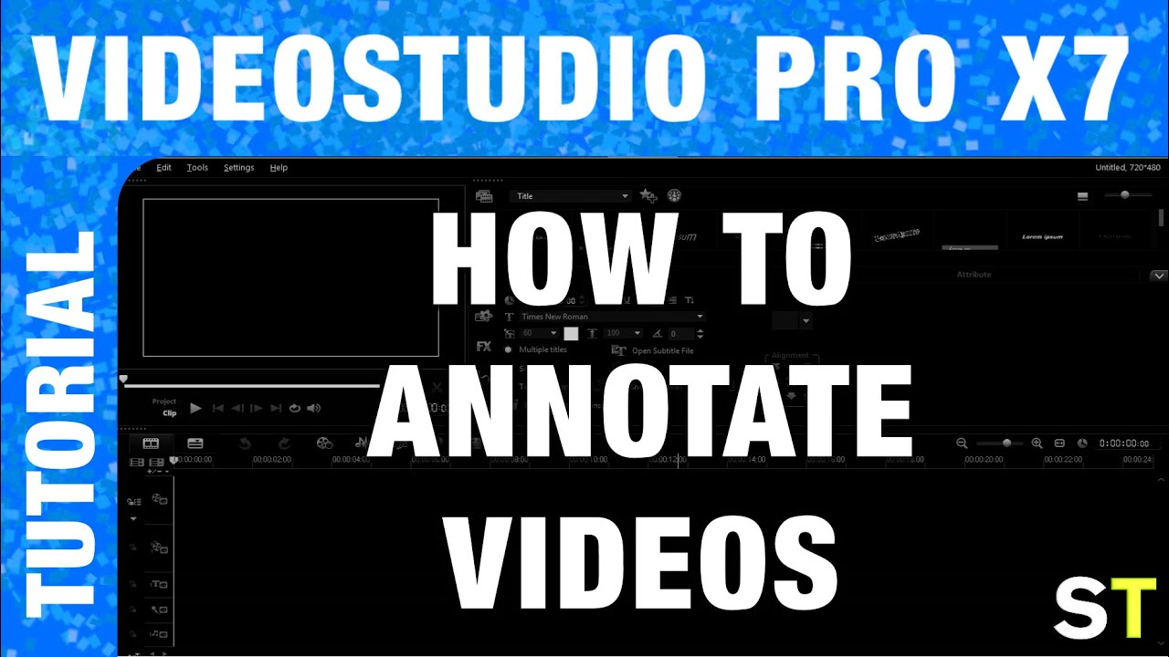 Videostudio Pro X7 How To Annotate Videos Tutorial