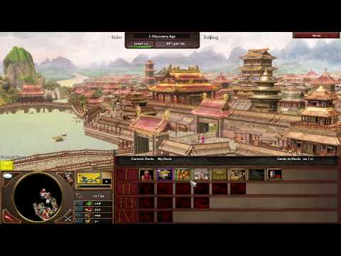 Age of Empires 3 Asian Dynasties; China; Free for all; Moderate difficulty;