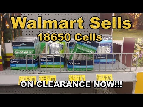 Walmart sells 18650 lithium battery cells on clearance now (JUL 2017)