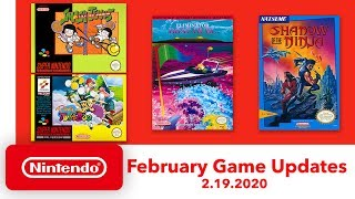 NES & Super NES - February Game Updates - Nintendo Switch Online