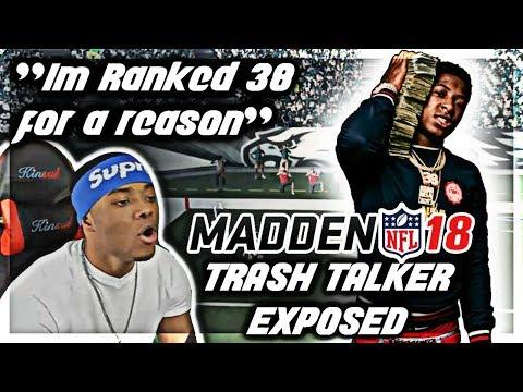 "Madden 18 Trash Talk | ""I'm ranked 38 In The world bruh"" | Madden 18 Online Ranked Match | Jmellflo"