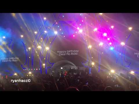 Flo Rida celebrates 37th birthday at Budweiser STORM Music Festival in Beijing, China 20160916