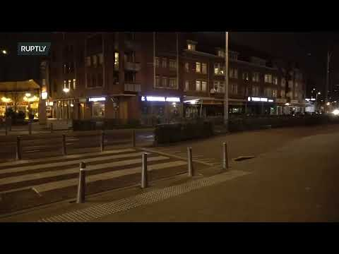 LIVE: Anti-lockdown protests continue in Rotterdam