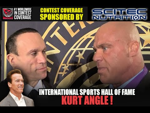 KURT ANGLE Inducted Into The International Sports Hall of Fame!