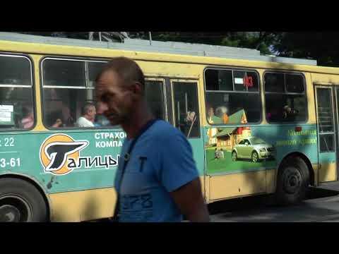 IVANO FRANKIVSK TROLLEYS BUSES UKRAINE AUG 2017