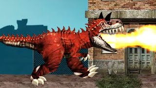 Paris Rex  - FIRE DINO Eat All Human + Smash Car Gameplay