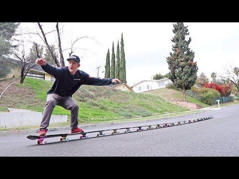 CENTIPEDE SKATEBOARD V2 (World Record Longest Skateboard)