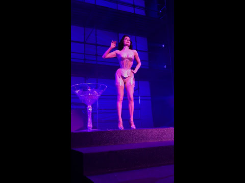 Burlesque Queen Dita Von Teese - Martini Glass - Philipp Plein Fashion Show @NYFW @DitaVonTeese