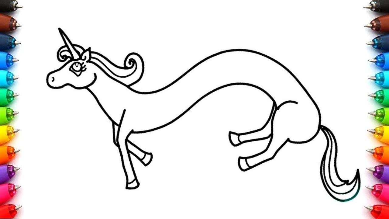 Como Dibujar Un Unicornio Arcoiris Para Niños Dibujos