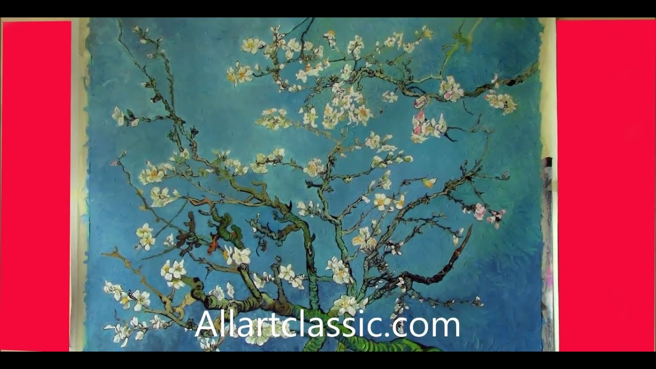 The Oil Painting Technique Of Van Gogh Almond Blossom