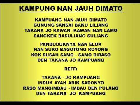 Lagu Dan Tari Nusantara: KAMPUNG JAUH DIMATO - Lagu Anak