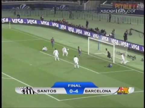 Resumen Final Mundial De Clubes 2011 Santos 0 Barcelona 4 Youtube