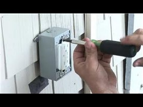 Electrical help how to install a power receptacle How to install exterior electrical outlet
