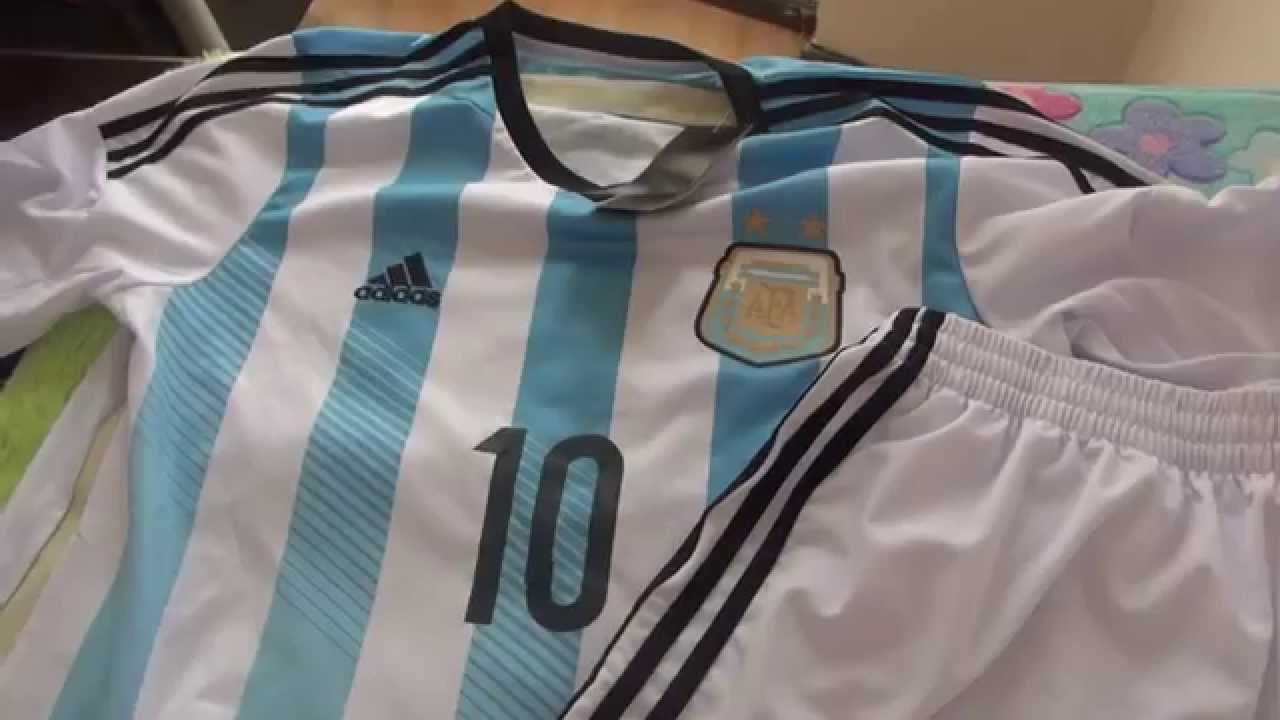 95e65cb2e43 Argentina #10 Lionel Messi Away soccer jersey 2014 World Cup - YouTube