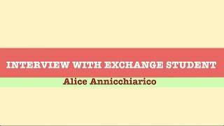 Publication Date: 2020-04-06 | Video Title: Interview with Exchange Studen