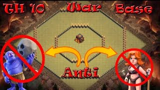 Town Hall 10 (TH10) Best War Base | Anti Valkyrie/ Bowler/ Queen Walk | Clash of clans |