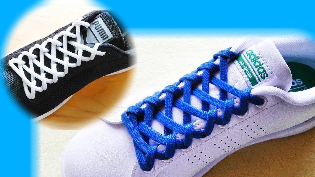 〔靴紐の結び方〕細かい編み模様が美しい靴ひもの通し方 how to tie shoelaces 〔生活に役立つ!〕