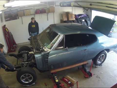 Ls conversion swap part 27 body on frame timelapse youtube for Garage prime conversion