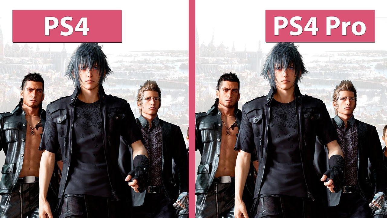 Final Fantasy XV – PS4 vs  PS4 Pro 1080p HIGH Mode Graphics Comparison