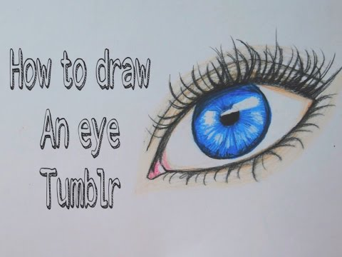 How to draw an eye tumblr