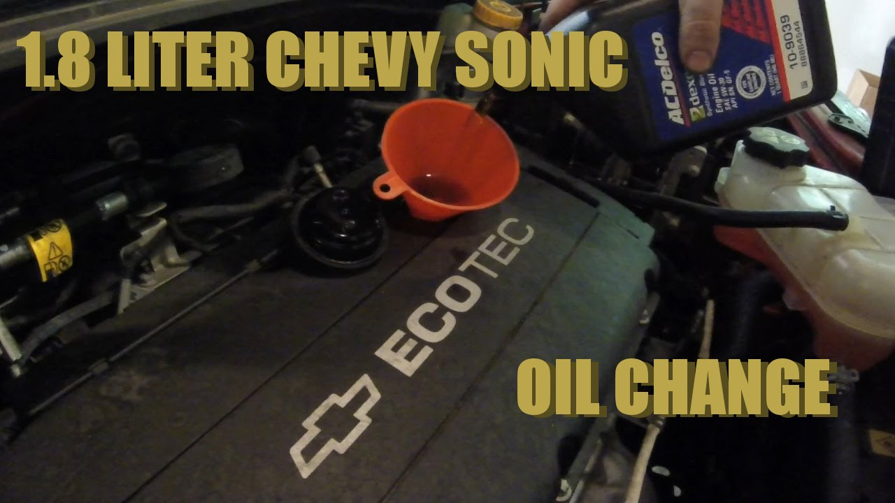How to change the oil on a 1.8 liter Chevy Sonic - YouTube