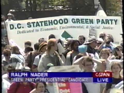 Ralph Nader at IMF Protest, 4/16/00