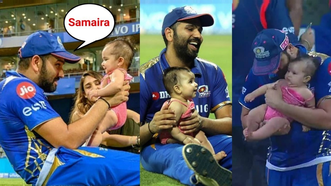 Rohit Sharma Playing With His Daughter Samaira On The Ground Youtube