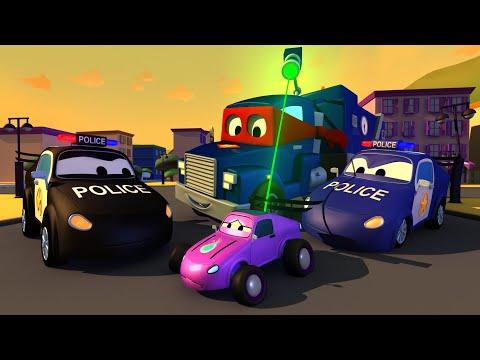 变形警车 Police Trucks - 超级卡车卡尔在汽车城 🚚 ⍟ 国语中文儿童卡通片 l Car City - Chinese Mandarin Cartoons for Children