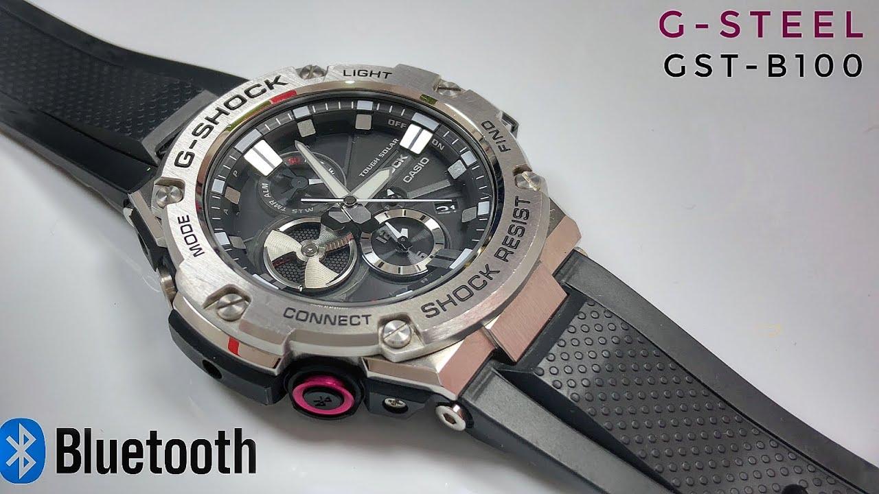 G Steel Gst B100 1ajf Bluetooth Analog G Shock Watch Review Watch
