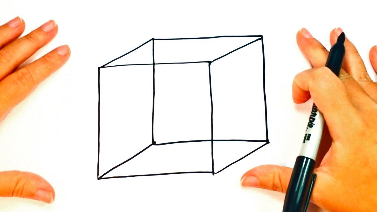 Cómo dibujar un Cubo paso a paso | Dibujo fácil de un Cubo - YouTube