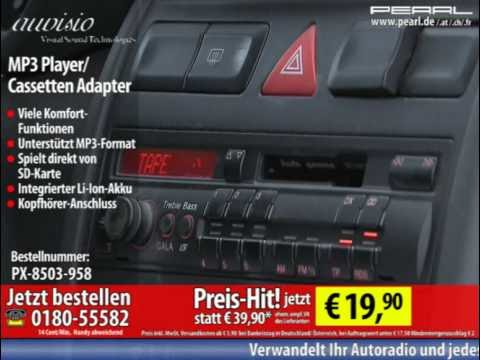 auvisio Kabelloser MP3-Player für Kassetten-Autoradio