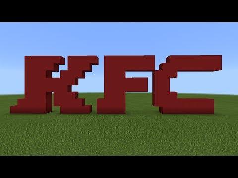 Minecraft Pixel Art - How To Build The KFC Logo