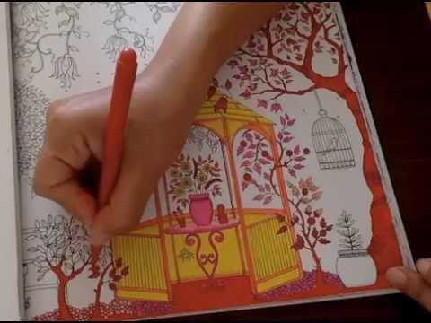 Secret Garden Coloring Book Gazebo Dark Garden Part 2