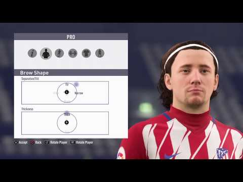 FIFA 18 Pro Clubs Game Face Antoine Griezmann Face Look Alike