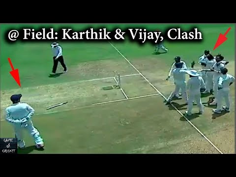 @ Field: Fight Between Cricketers Dinesh Karthik & Murali Vijay, Caught On Camera