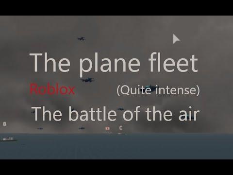 A massive fleet of planes in Naval Warfare Roblox. |