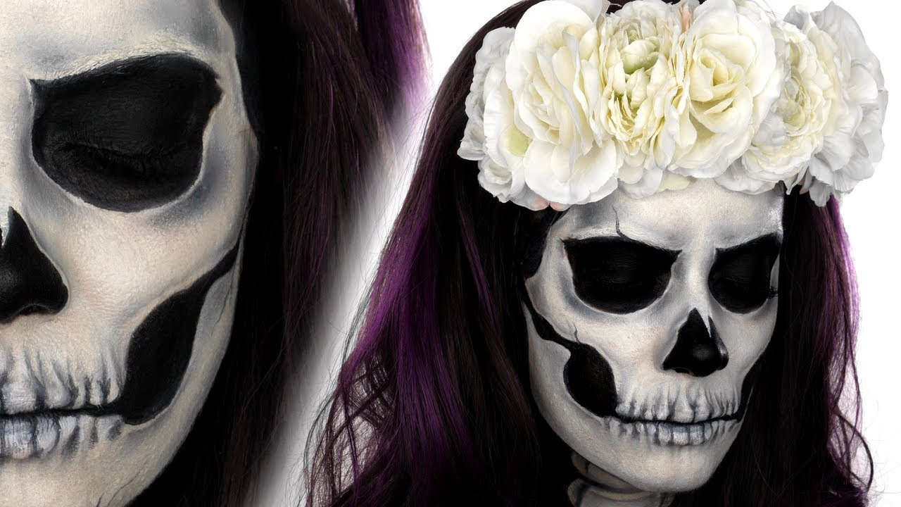 Skull Face Paint Tutorial | Halloween Makeup Tutorial | Snazaroo ...