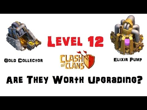 New Max Level 12 Gold Collector & Elixir Pump Are They Worth Upgrading? Clash Of Clans Update