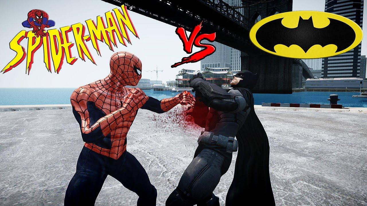 Spiderman vs Batman - Epic Battle - Grand Theft Auto - YouTube