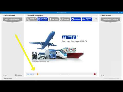 Data Logger MSR175 Dashboard first steps #2: Stop mission and read out data