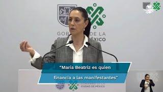 La mandataria local dice que María Beatriz Gasca es quien ayuda a poner los cuadros intervenidos en subasta